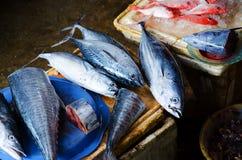 Vissen bij markt Stock Afbeeldingen