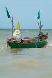 Vissen-boot in Thailand stock fotografie
