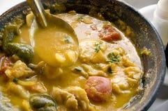 Vissen Cookpot, Ondiepe Dof stock fotografie