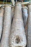Vissen die kippenren in Thailand voor patroon vangen Royalty-vrije Stock Foto's