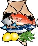 Vissen in document zak Vector Illustratie
