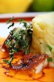 Vissen en aardappels royalty-vrije stock afbeelding