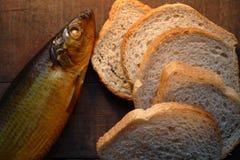 Vissen en Brood Royalty-vrije Stock Foto