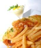 Vissen en Gebraden gerechten Stock Foto's