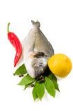 Vissen en groenten. Royalty-vrije Stock Fotografie