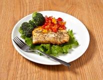 Vissen en groenten Royalty-vrije Stock Foto