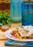 Vissen en groenten Royalty-vrije Stock Afbeelding