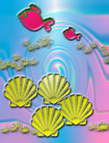 Vissen en Shells Royalty-vrije Stock Afbeeldingen