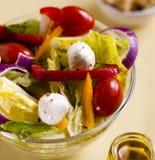 Vissen en Spinazielunch met Maagdelijke Olive Oil royalty-vrije stock afbeelding