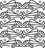 Vissen in etnische stijl Royalty-vrije Stock Afbeeldingen