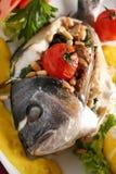 Vissen gevulde paddestoel Stock Foto's