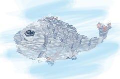 vissen, het Decoratieve schilderen Royalty-vrije Stock Afbeelding