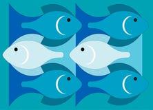Vissen in het overzees vector illustratie