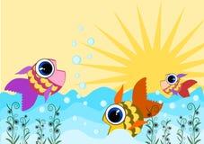 Vissen het zwemmen stock illustratie