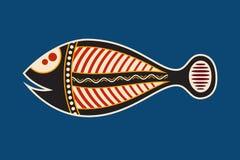 Vissen Inheemse kunststijl royalty-vrije illustratie