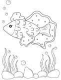 Vissen kleurende pagina Stock Foto's