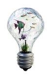 Vissen in lamp vector illustratie