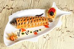 Vissen met brood royalty-vrije stock afbeeldingen