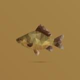Vissen met driehoeken worden gemaakt die vector illustratie