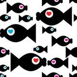 Vissen met hart Stock Afbeelding
