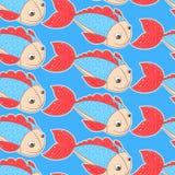 Vissen met rode vinnen royalty-vrije illustratie