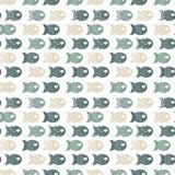 Vissen naadloos patroon voor stoffen textielontwerp, hoofdkussens, behang, doek, zakken, plakboekdocument stock illustratie