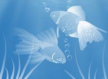 Vissen onderwater, Illustratie. Royalty-vrije Stock Afbeeldingen