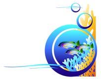 Vissen Onderwaterertsader Vector Illustratie