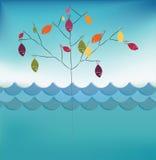 Vissen op boom Stock Afbeelding