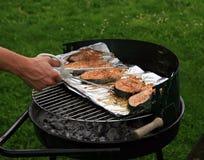 Vissen op de grill Royalty-vrije Stock Fotografie