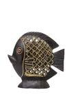 Vissen van klei met een spiegel worden gemaakt die royalty-vrije stock foto