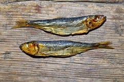 Vissen van koude die op een lijst roken royalty-vrije stock afbeelding