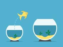 Vissen veranderend aquarium Stock Illustratie