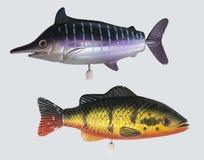 Vissen windup stuk speelgoed, vissenstuk speelgoed/wit Royalty-vrije Stock Afbeelding