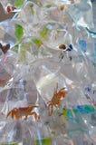 Vissen in zakken in vissenstraat, een straathoogtepunt van winkel Royalty-vrije Stock Foto