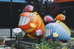 Vissenbeeldhouwwerk Stock Afbeeldingen