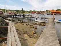 Vissend dorp, Kosterhavet Stock Foto's