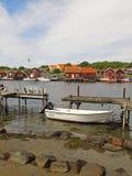 Vissend dorp, Kosterhavet stock fotografie