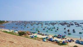Vissend dorp, Mui Ne, Vietnam, Zuidoost-Azië Landschap met royalty-vrije stock foto