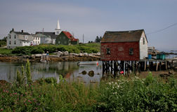 Vissend dorp, Nova Scotia Stock Afbeeldingen