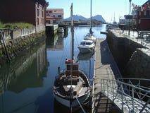 Vissend haven - Noorwegen Royalty-vrije Stock Afbeeldingen