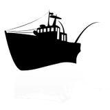Vissend schip Stock Afbeelding