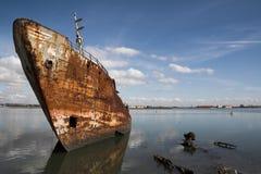 Vissend schip royalty-vrije stock fotografie