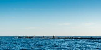 Vissende gemeenschap Stock Fotografie