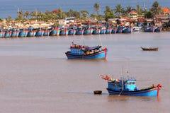 Vissende haven stock foto
