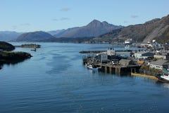 Vissende haven stock afbeeldingen