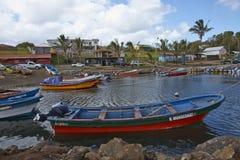 Vissende Haven, Hanga Roa, Pasen-Eiland, Chili Royalty-vrije Stock Afbeeldingen