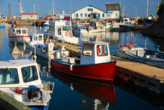 Vissende jachthaven, Gaspésie Royalty-vrije Stock Afbeelding