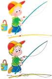 Vissende jongen Stock Afbeelding