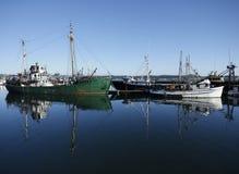 Vissende schepen Stock Foto